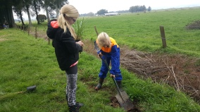 Planting our trees!